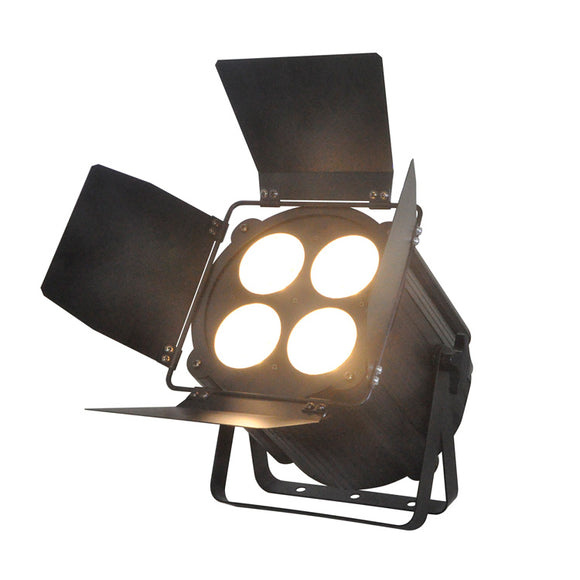4-Pack, 4x50W Warm White Cool White LED Par Light with Barn Doors for Theatre Stage Lighting