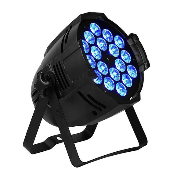 1 Pack (6pcs) 18x10w RGBW 4in1 Aluminum Concert Stage Lighting Indoor LED Par Light
