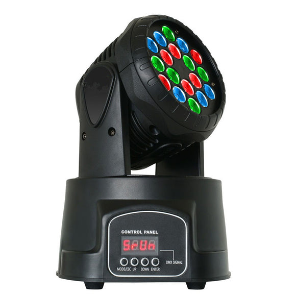 1 Pack (4pcs) 18x3w RGB Mixing Color 4kg Mini Theater Stage Light LED DJ Wash Moving Head Light for Club KTV Pub Bar