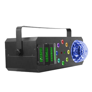 4-Pack, OPPSK Multi-Function 4in1 LED Dome + Derby Effect +Strobe/Chase + Laser Projector DJ Disco Light for Party Club KTV
