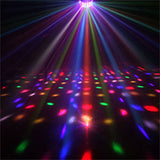 1Pack (8pcs) 27W Multicolor Derby Effect LED Disco Light with Remote for Party Club