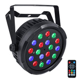 12-Pack, OPPSK 18x1W RGB Plastic DJ LED Slim Par Light for Wedding Party Concert