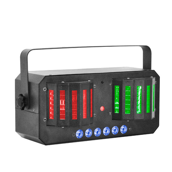 4-Pack, OPPSK Multi-effect DJ Lighting LED Derby Strobe Laser Light for Nightclub Party Concert