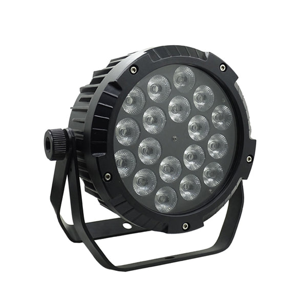 1Pack (4pcs) 18x15W RGBWA 5in1 IP65 Stage Lighting Outdoor Waterproof LED Par Light