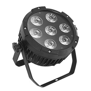 4-Pack, 7x10W RGBW 4in1 IP65 Outdoor Mini DJ Stage Lighting Waterproof LED Par Light