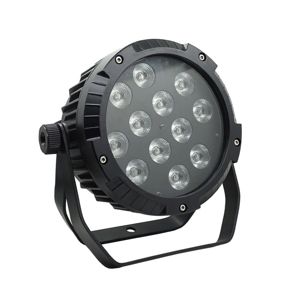 12x15W RGBWA 5in1 IP65 Outdoor Wedding Light Waterproof DMX LED Flat Par Light IP65