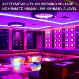 1 Pack (5 sets) 33ft/10M IP65 Waterproof Flexible UV LED Black Light Strip with IR Remote