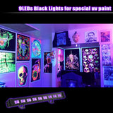 1 Pack (12pcs) OPPSK 9x3W IP65 Waterproof Outdoor UV LED Black Light for Halloween, US Plug