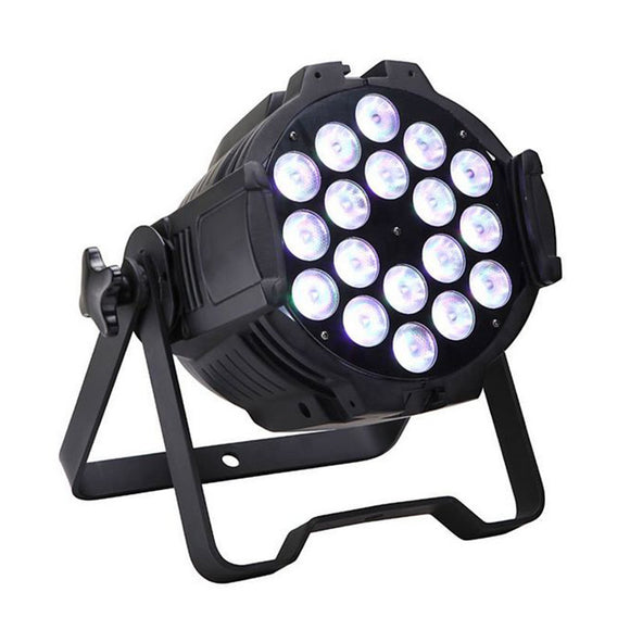 1 Pack (6pcs) OPPSK 18x18W RGBWA UV 6in1 Aluminum LED Par Stage Light