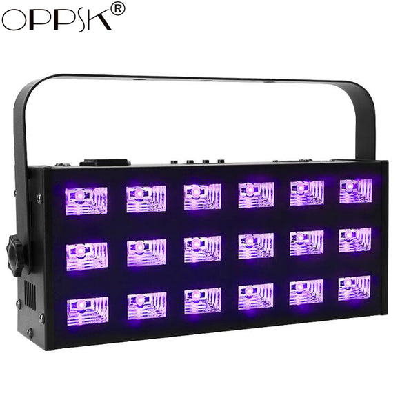 6-Pack, OPPSK 18x3W DMX512 Control Aluminum Housing Halloween LED UV Black Light