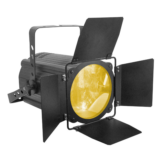 OPPSK 200W Warm White Cool White 2in1 COB LED Zoomable Par Light with Barn Doors for Theatre Stage Lighting