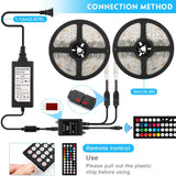 Pack of 5 sets, 10M 33ft Waterproof 12V SMD5050 RGB Color Changing LED Strip Light with Remote