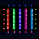 12-Pack, OPPSK 25W 108LED RGB 3in1 DMX512 Indoor Up lighting LED Linear Background Effect Light