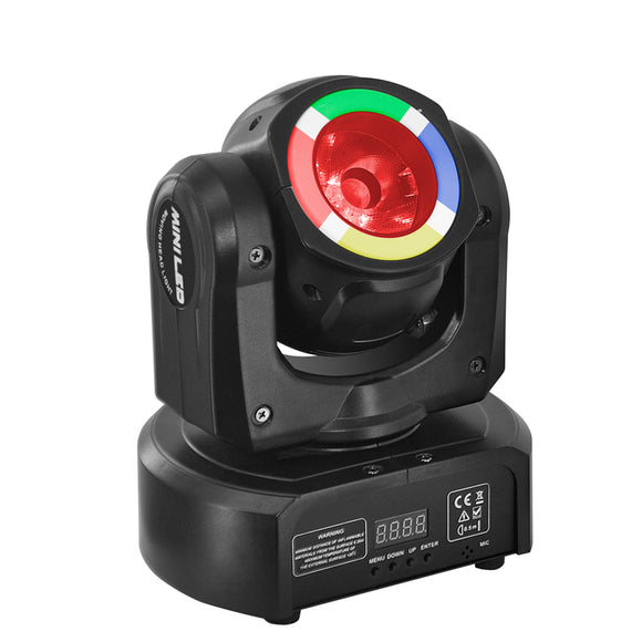 4-Pack, OPPSK SMD + LED Mini Moving Head Beam Stage Light for Concert Event Mobile DJ Party
