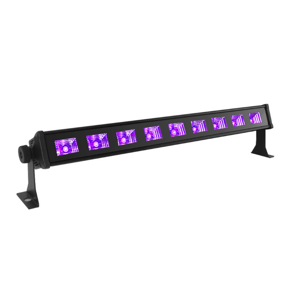 12-Pack, OPPSK 9x3W DJ Stage Light 405nm UV LED Black Light for Glow Studio Min Golf Club Halloween Party