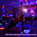 1Pack (8pcs) OPPSK 9 Colors Led Derby Dance Light with 6pcs UV LED for DJ Disco Party