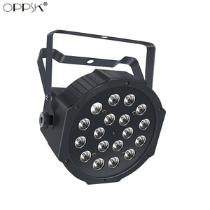 1Pack (8pcs) OPPSK 18x1W RGBW Wireless Stage Lighting Battery Powered Rechargeable LED Par Light