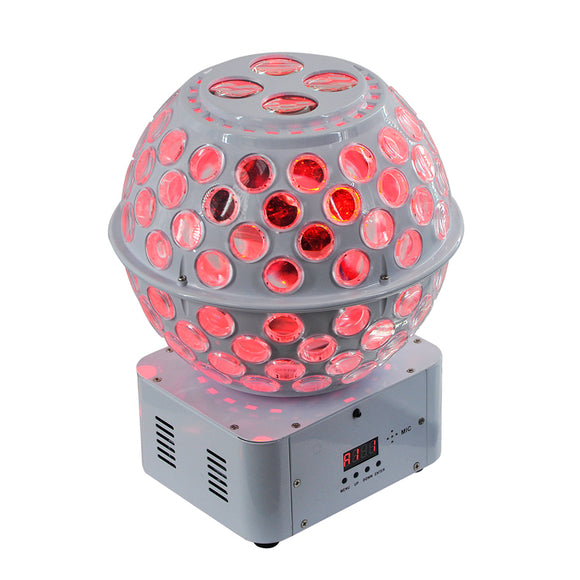 1 Pack (4pcs)12x3W RGBW Sound Activated DJ Gobo Effect Projector Light LED Rotating Stage Light Magic Disco Ball