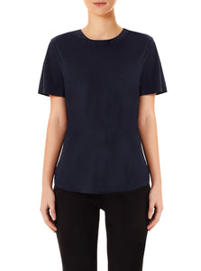 All You Need Silk Bias Cut Tee