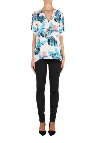 Club Tropical Silk Blouse