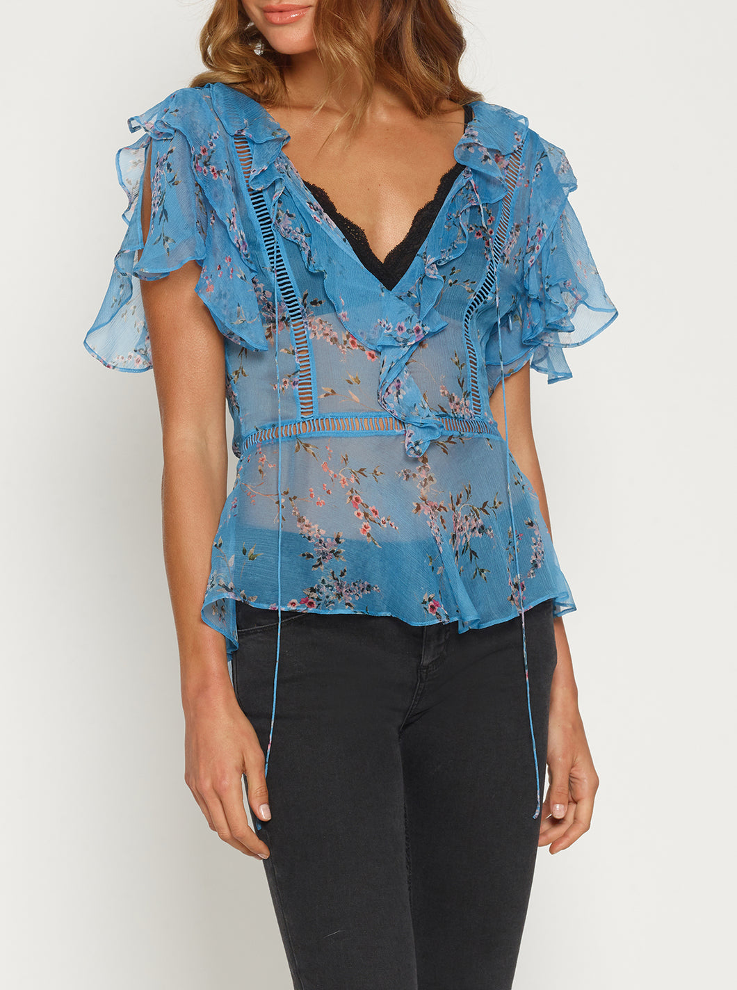 Higher Ground Silk Scoop Back Top