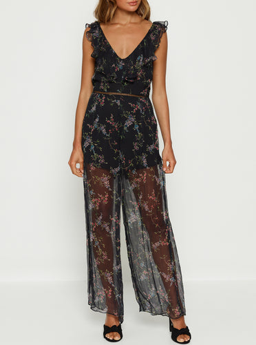 Higher Ground Silk Jumpsuit