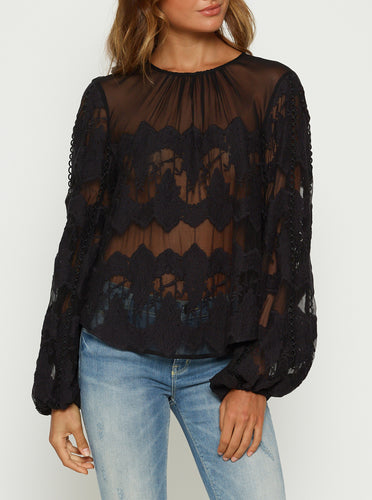 Heartbreaker Silk Balloon Sleeve Blouse