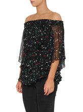 Load image into Gallery viewer, Flowerfield Silk Flutted Sleeve Top