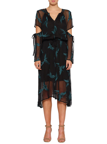 Fly Away Silk Maxi Dress