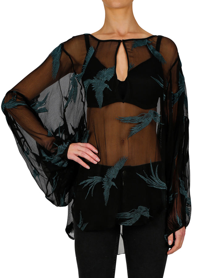 Fly Away Silk Blouse
