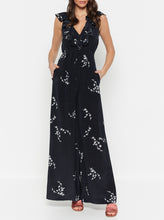 Load image into Gallery viewer, Heart Of Gold Silk Wide Leg Jumpsuit