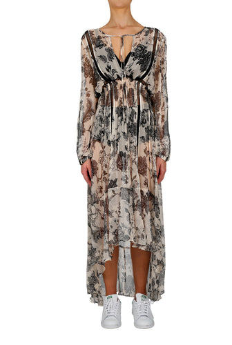 La Boheme Silk Long Midi Dress