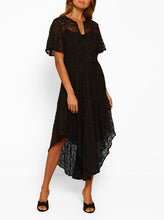 Load image into Gallery viewer, Everlasting Silk Cold Shoulder Dress