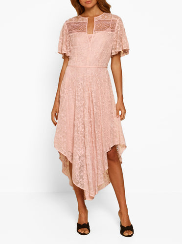 Everlasting Silk Cold Shoulder Dress