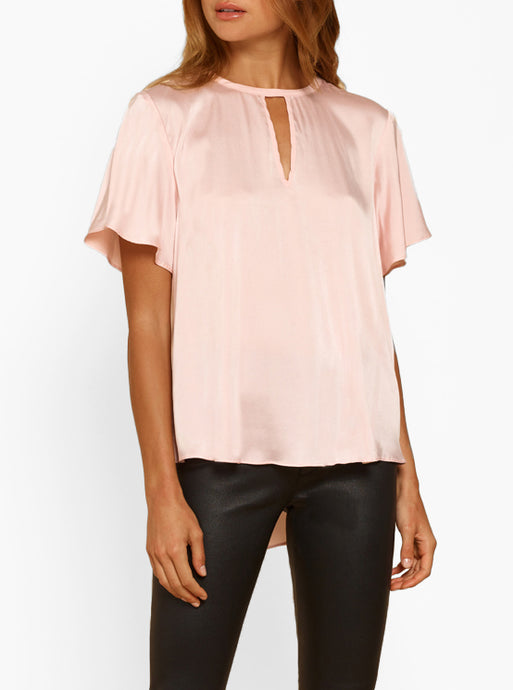 By The Way Silk Cut Away V-Neck Top