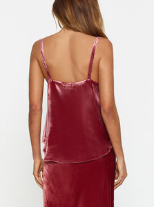 First Love Silk Velvet Bias Cut Cami