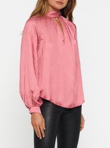 Look Again High Neck Gathered Blouse