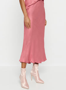 Look Again Bias Cut Long Midi Skirt