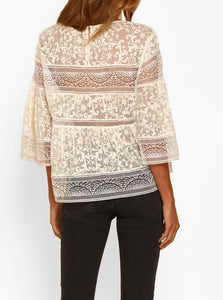 Everlasting Silk Lace Insert Blouse