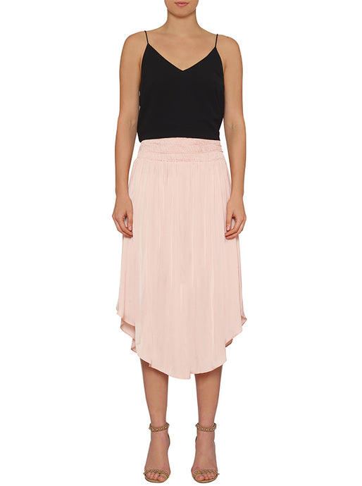 Look Twice Shirred Waist Skirt