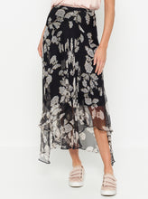 Load image into Gallery viewer, Butterflies Silk Midi Skirt