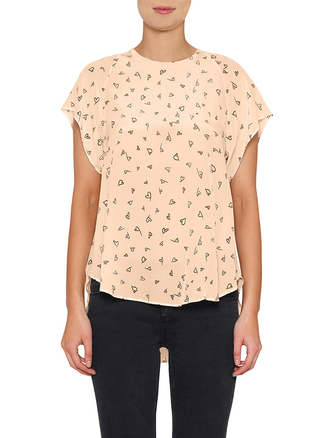 Love Always Silk Fluid Tee Top