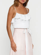 Load image into Gallery viewer, Santorini Linen Drawstring Cami