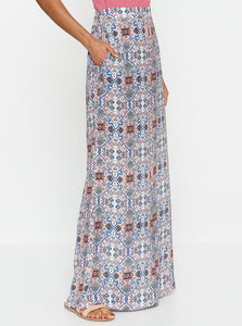 Positano Silk High Waisted Wide Leg Pant