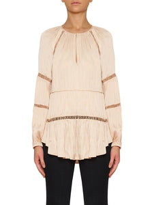 De Chine Wide Sleeve Blouse