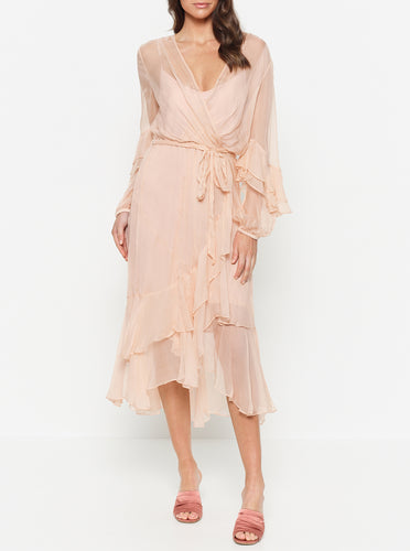 The Real You Silk Maxi Dress