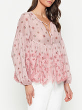 Load image into Gallery viewer, Summer Breeze Silk Cotton Split Neck Blouse