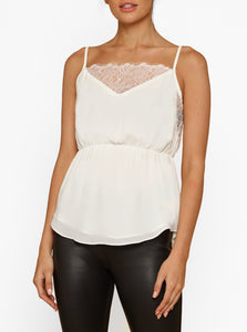 Moondust Lace Trim Elasticated Waist Cami