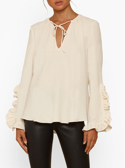 Borderline Ruffle L/S Blouse