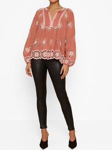 She's With Me L/S Peasant Blouse